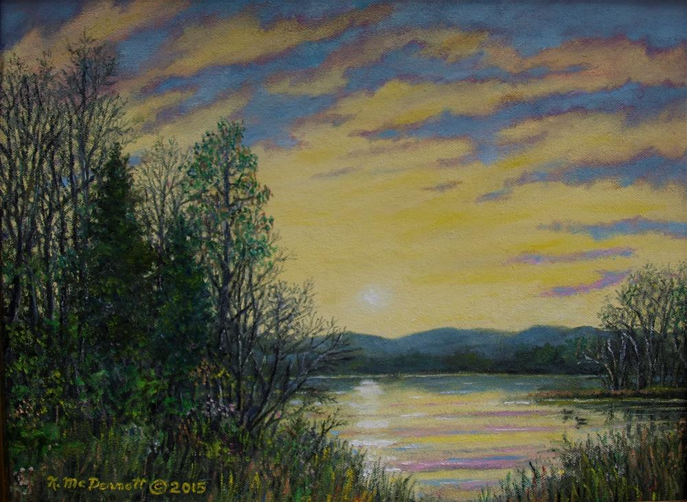"""LAKE DAWN"" original fine art by Kathleen McDermott"