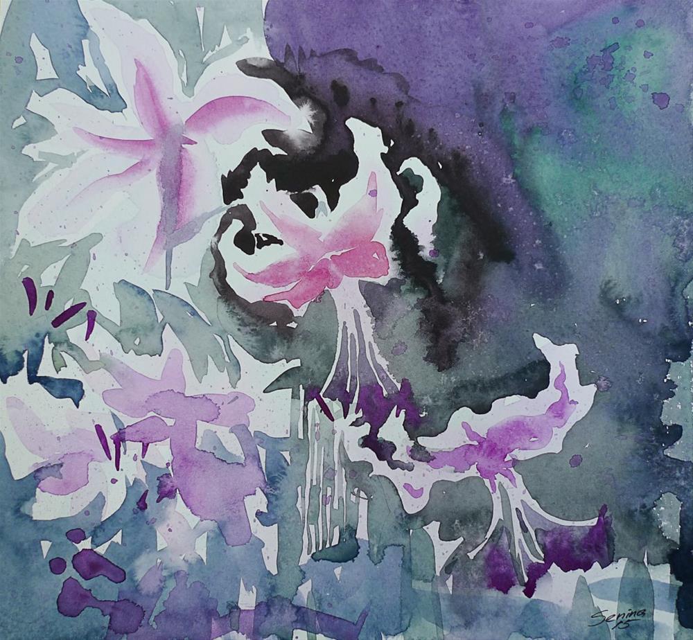 """Lillies"" original fine art by Elena Senina"