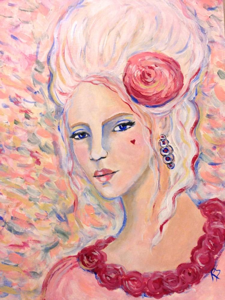 """Marie's Sister"" original fine art by Roberta Schmidt"
