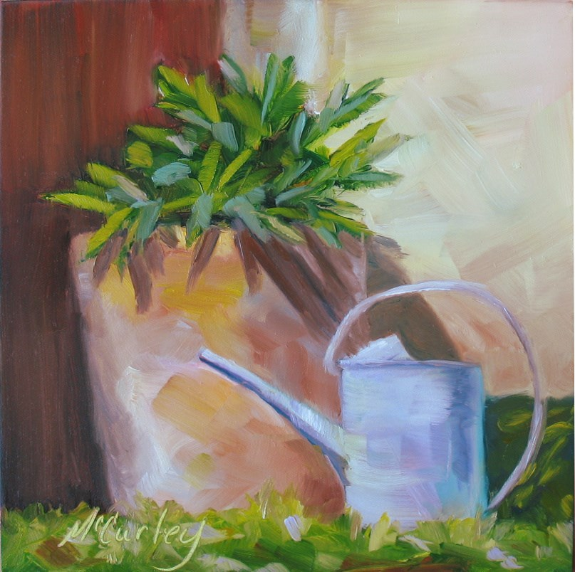 """Water Me"" original fine art by Melisa McCurley"