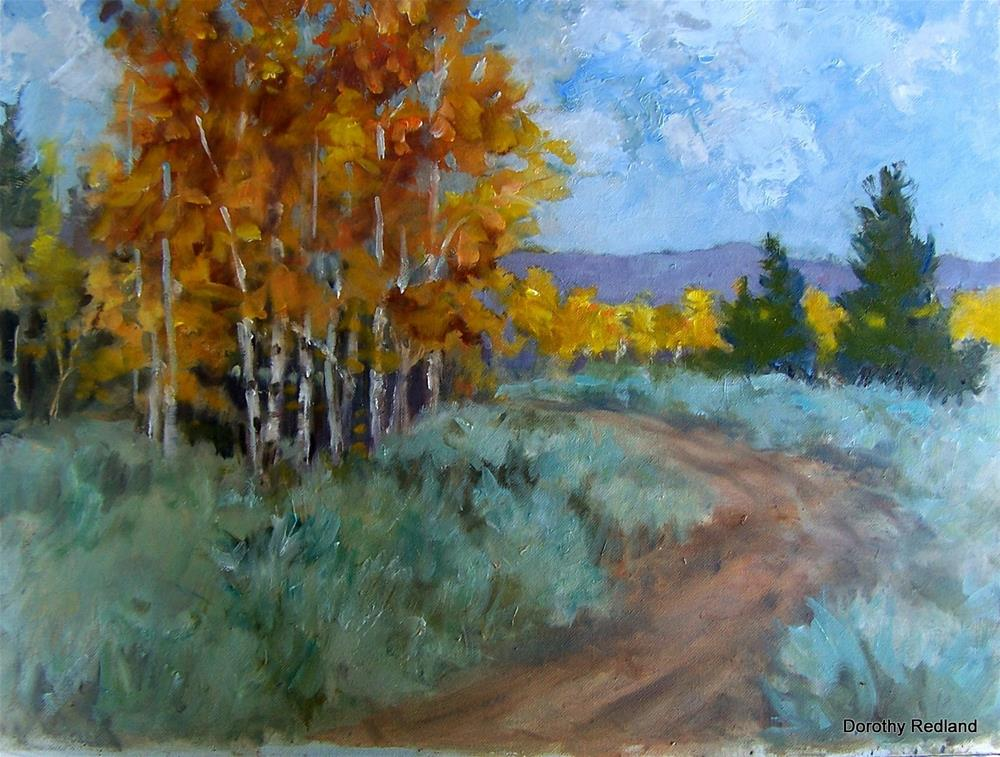 """Along the road to camp"" original fine art by Dorothy Redland"