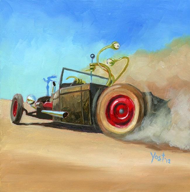 """""""Joyrider From Outer Space 5"""" original fine art by Matt Yost"""