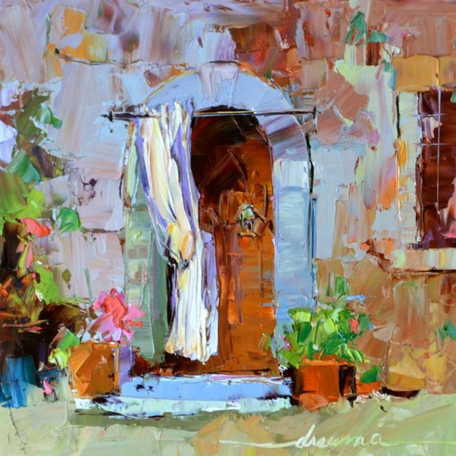 """Doorway to Tuscany"" original fine art by Dreama Tolle Perry"