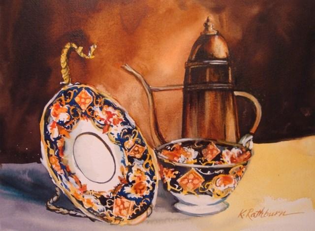 """Time for Tea"" original fine art by Kathy Los-Rathburn"