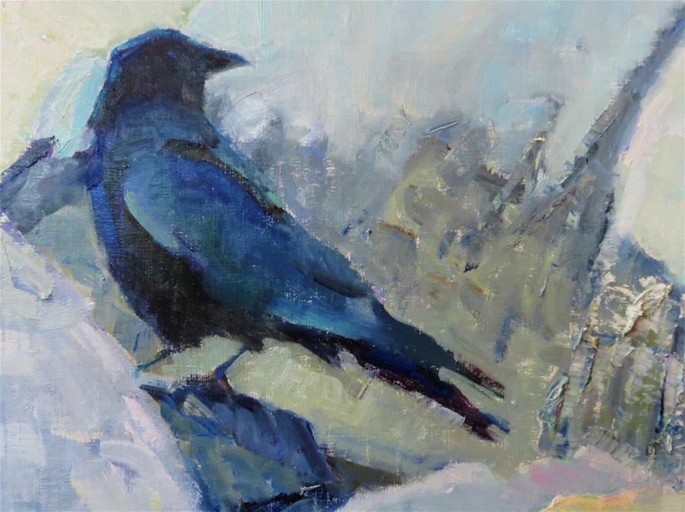 """Chilly Crow"" original fine art by Scarlet Owl Studio"