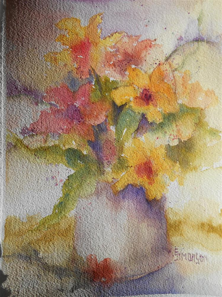 """Gifts from the Summer Garden"" original fine art by Bev Simonson"