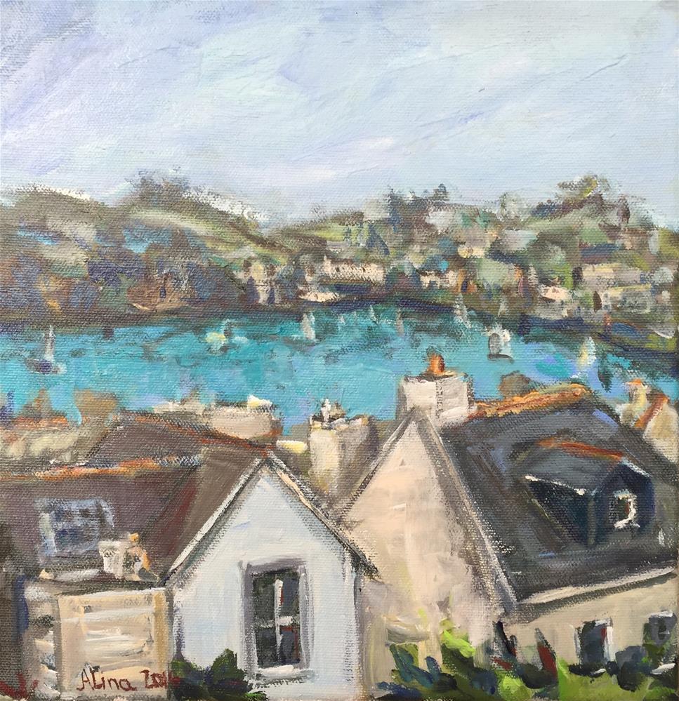 """Fowey Cornwall"" original fine art by Alina Vidulescu"