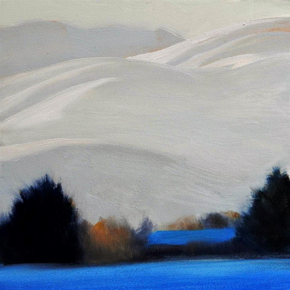 """A Cold Day But Sunny"" original fine art by Carolyn Caldwell"