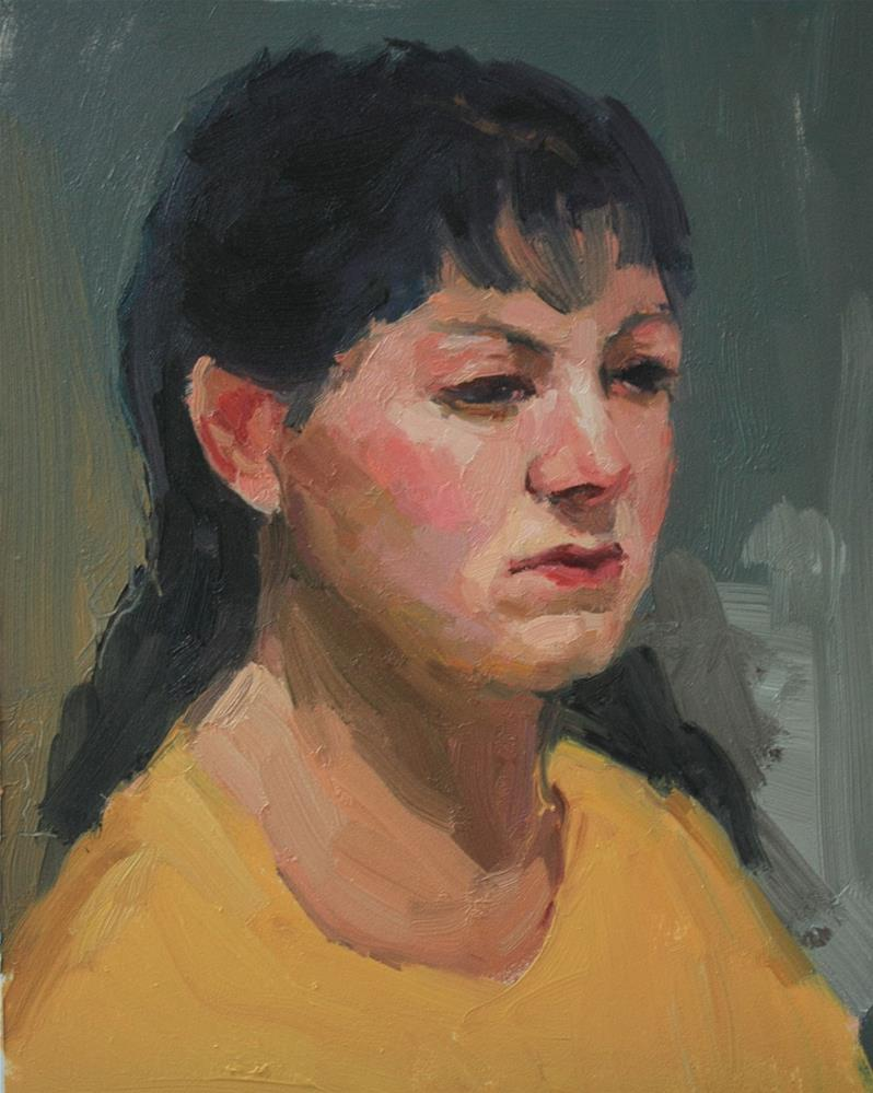 """Portrait Study #20"" original fine art by Kathryn Townsend"