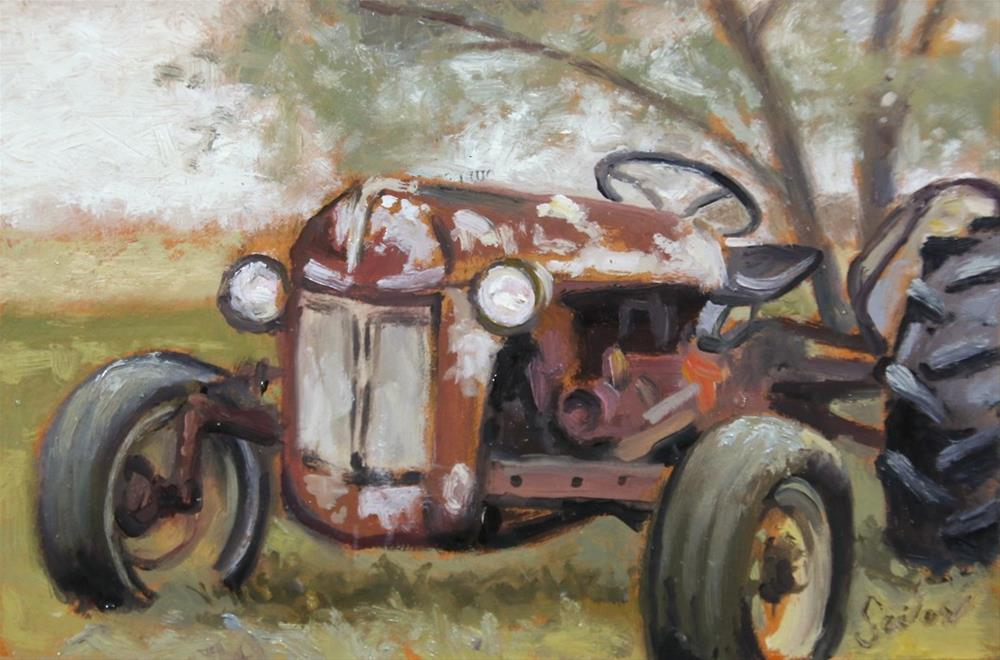 """Old 'N Retired"" original fine art by Larry Seiler"