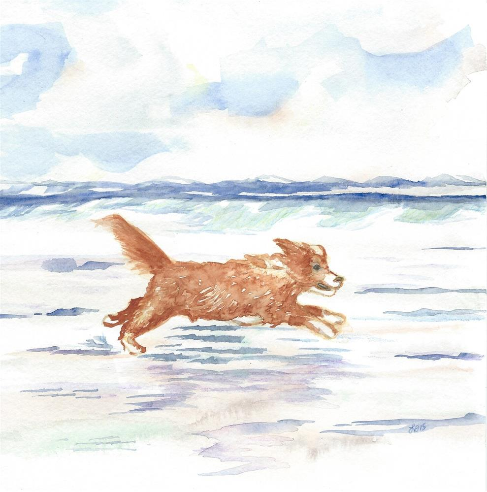 """Martin in Flight"" original fine art by Laura Denning"