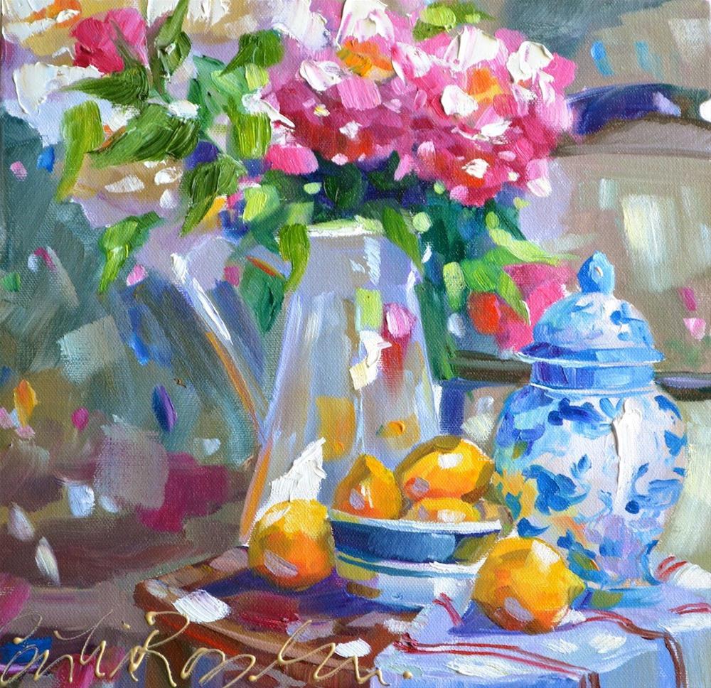 """DELFT VASE"" original fine art by Cecilia Rosslee"