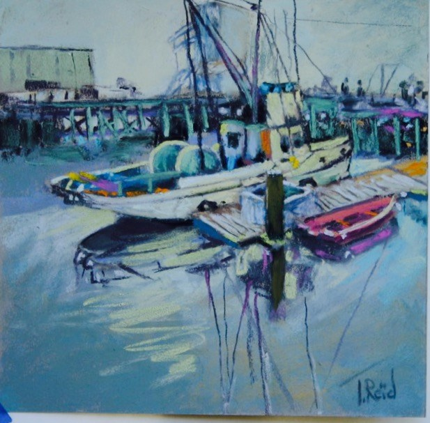 """Docked"" original fine art by Toby Reid"