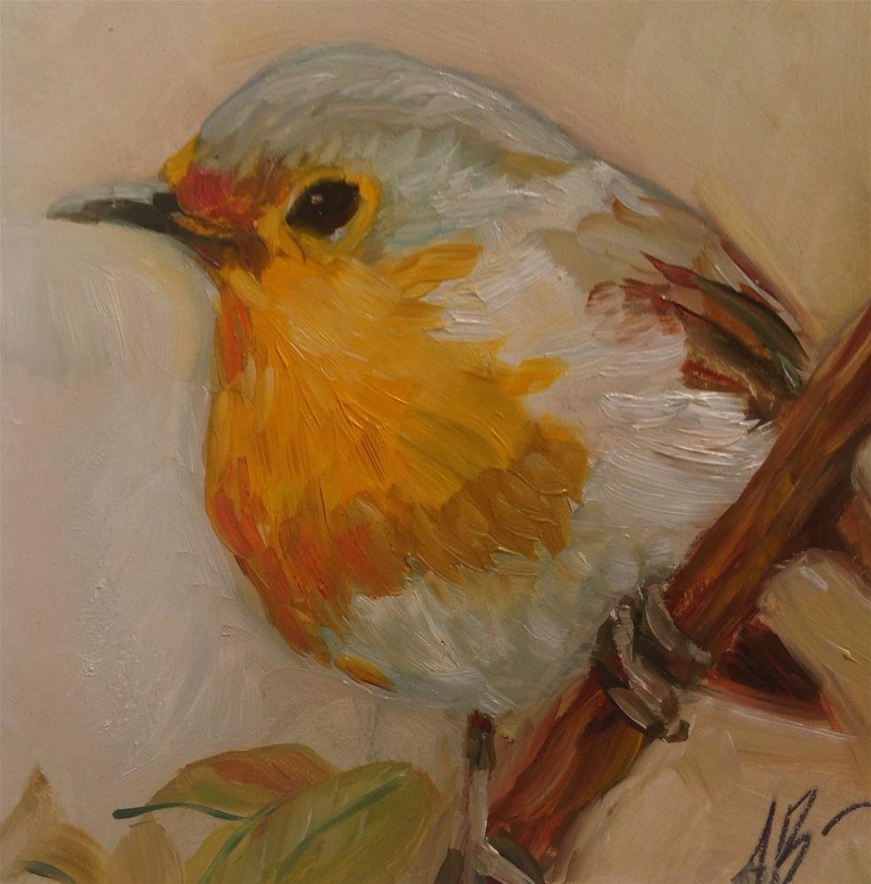"""Bird on a limb"" original fine art by Annette Balesteri"