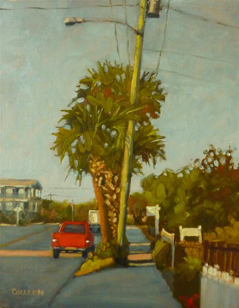 """Morning Light, Red Truck"" original fine art by Colleen Parker"