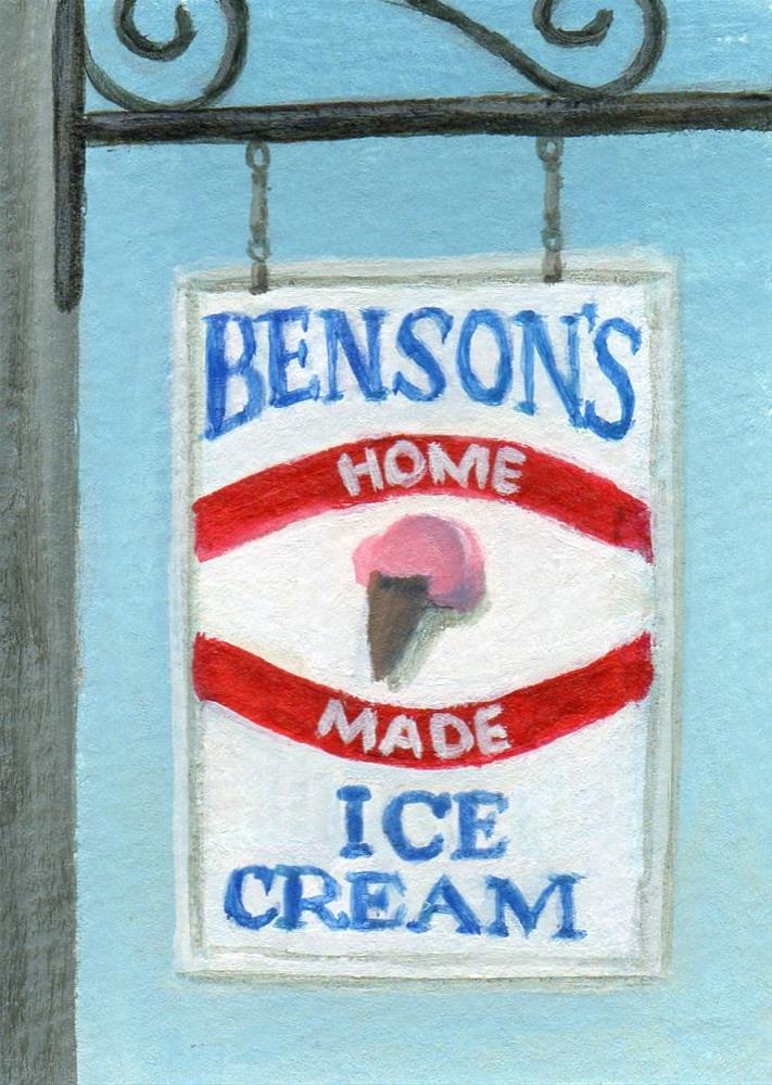 """Benson's"" original fine art by Debbie Shirley"