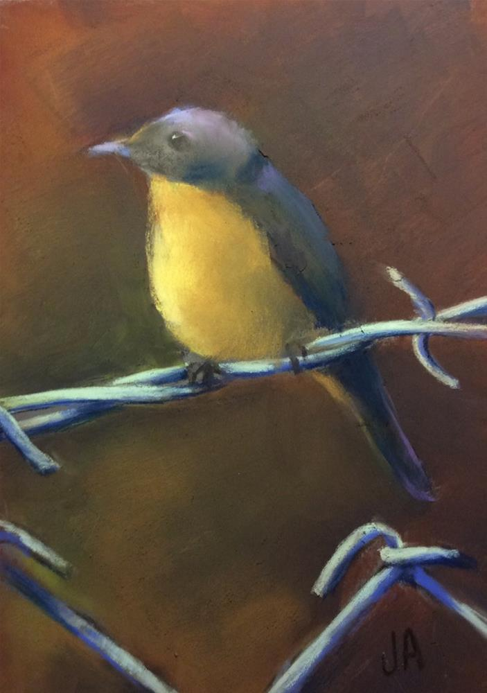 """Like a Bird on a Wire"" original fine art by Judy Albright"