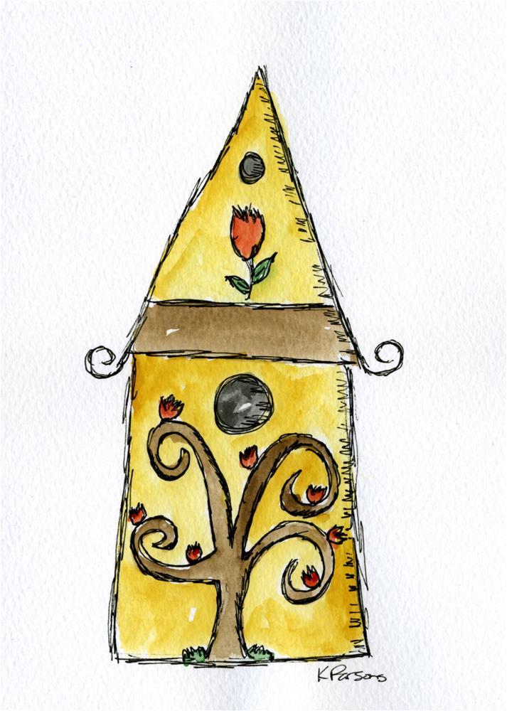 """A Tree on a Birdhouse"" original fine art by Kali Parsons"
