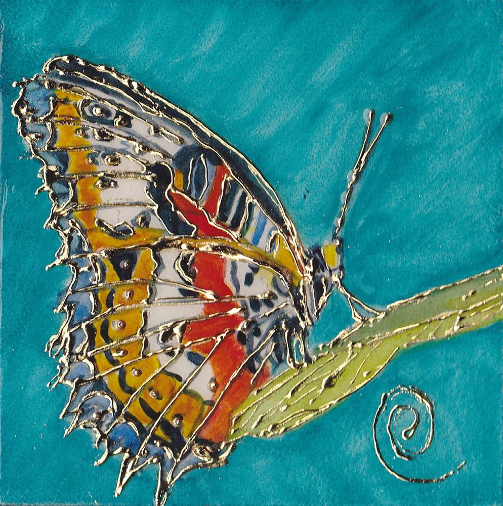 """Nature's Jewels: October Butterfly Miniature"" original fine art by Christiane Kingsley"