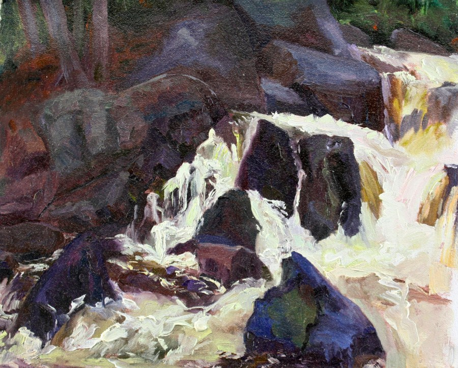 """Dancing Water"" original fine art by Pamela Sweet"