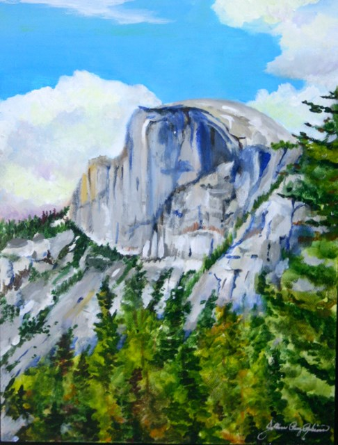 """Half Dome for Jamie and Doug"" original fine art by JoAnne Perez Robinson"