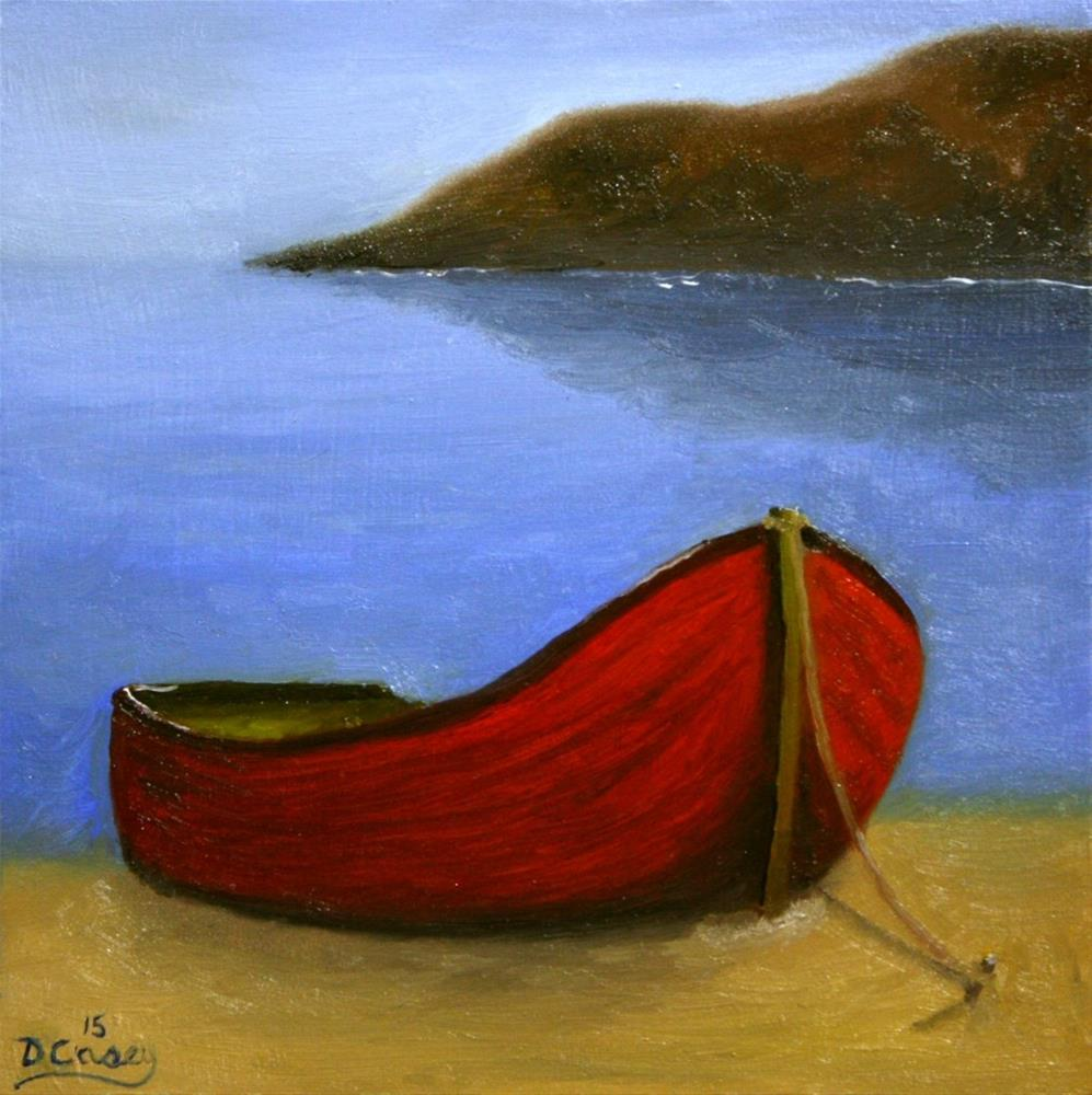 """At Mooring 001"" original fine art by Dave Casey"