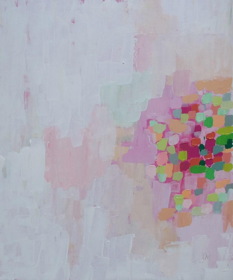 """""""Pink Mosaic"""" original fine art by Pamela Munger"""