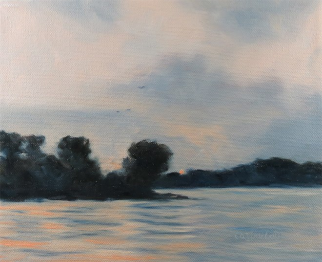"""Calm Waters"" original fine art by Carol Zirkle"