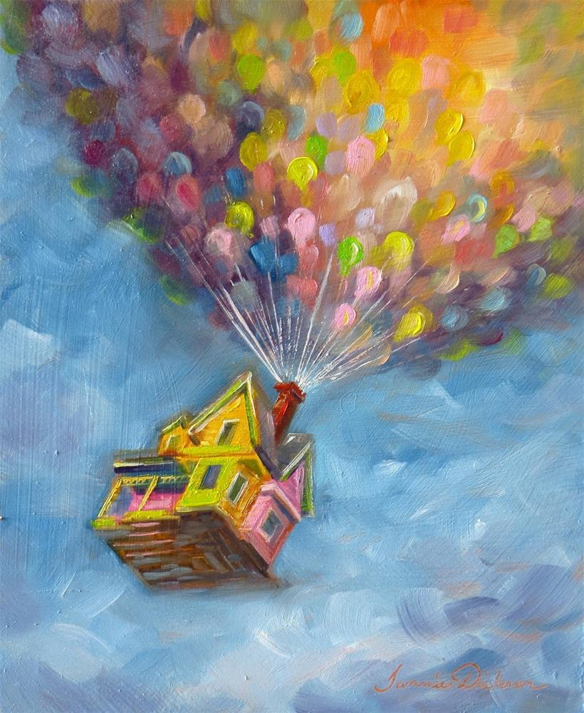 """Up! - for Baby :)"" original fine art by Tammie Dickerson"