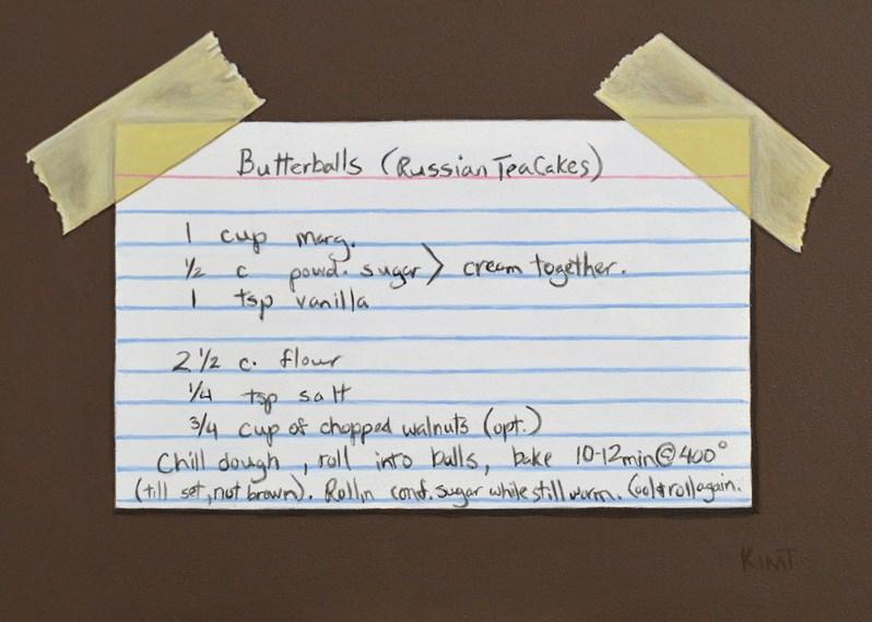 """""""Butterballs (Russian Tea Cakes)"""" original fine art by Kim Testone"""