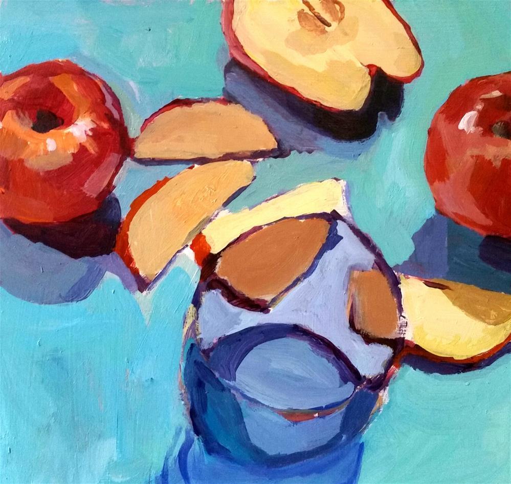 """Apple Frenzy"" original fine art by Liz Maynes"