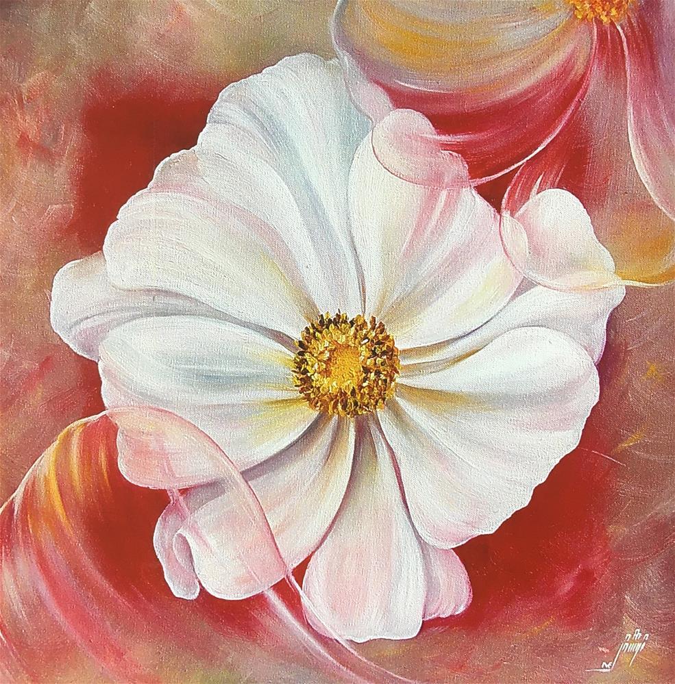 """flower"" original fine art by Nooshfar Vassei"