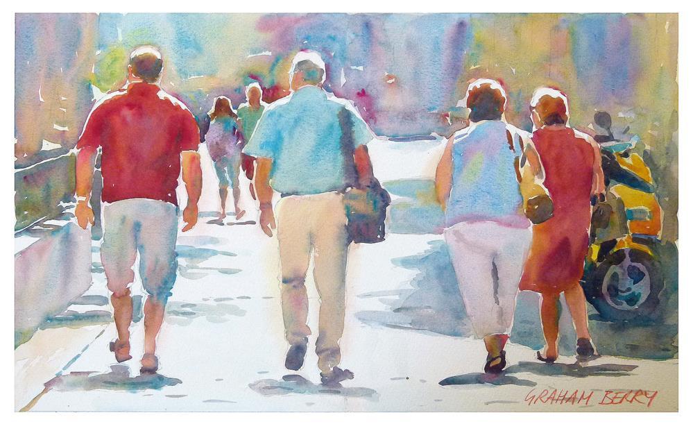 """Walkers"" original fine art by Graham Berry"