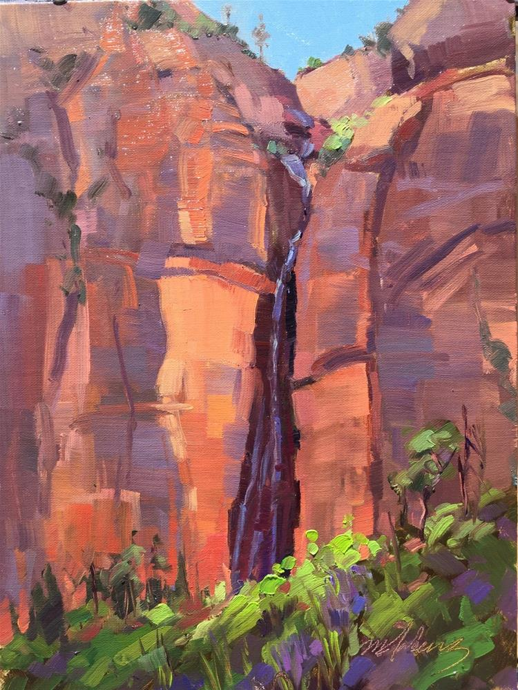 """Hidden Crevice"" original fine art by Mary Jabens"