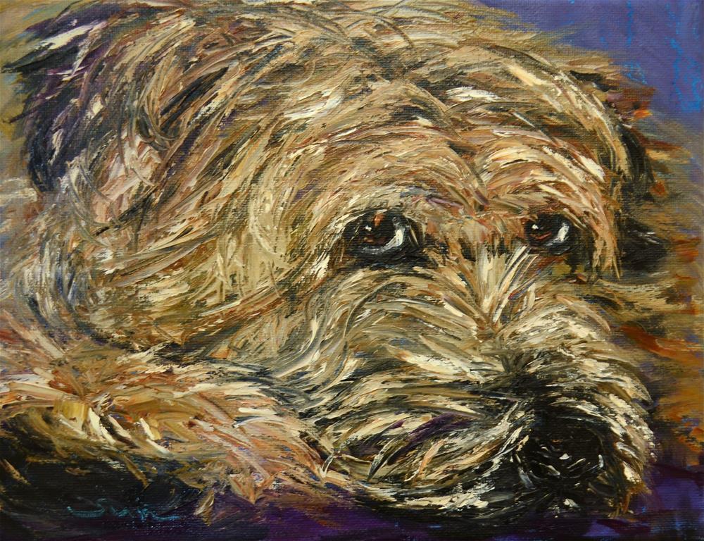 """Wheaten Terrier 2"" original fine art by Sun Sohovich"