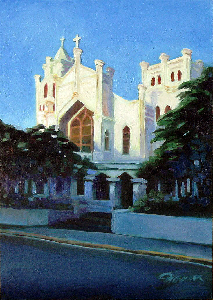 """Church in Key West"" original fine art by Joanna Bingham"