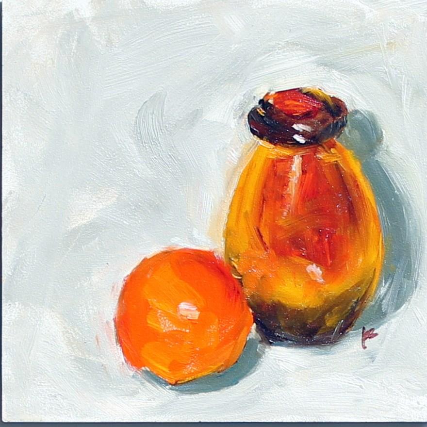 """""""Little Brown Vase"""" original fine art by Karen Solorzano"""