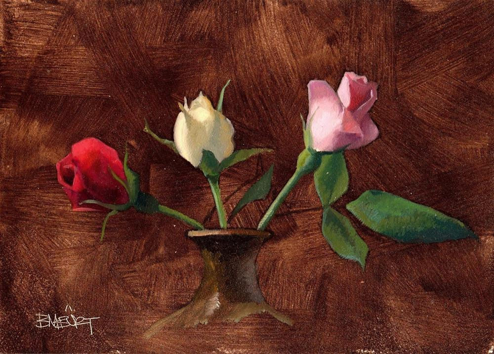 """#322 Rose Trio"" original fine art by Brian Burt"