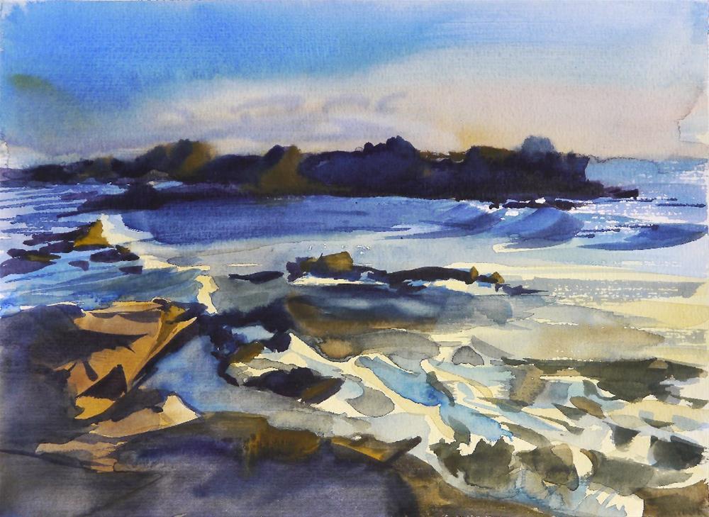 """ocean water 1"" original fine art by Beata Musial-Tomaszewska"