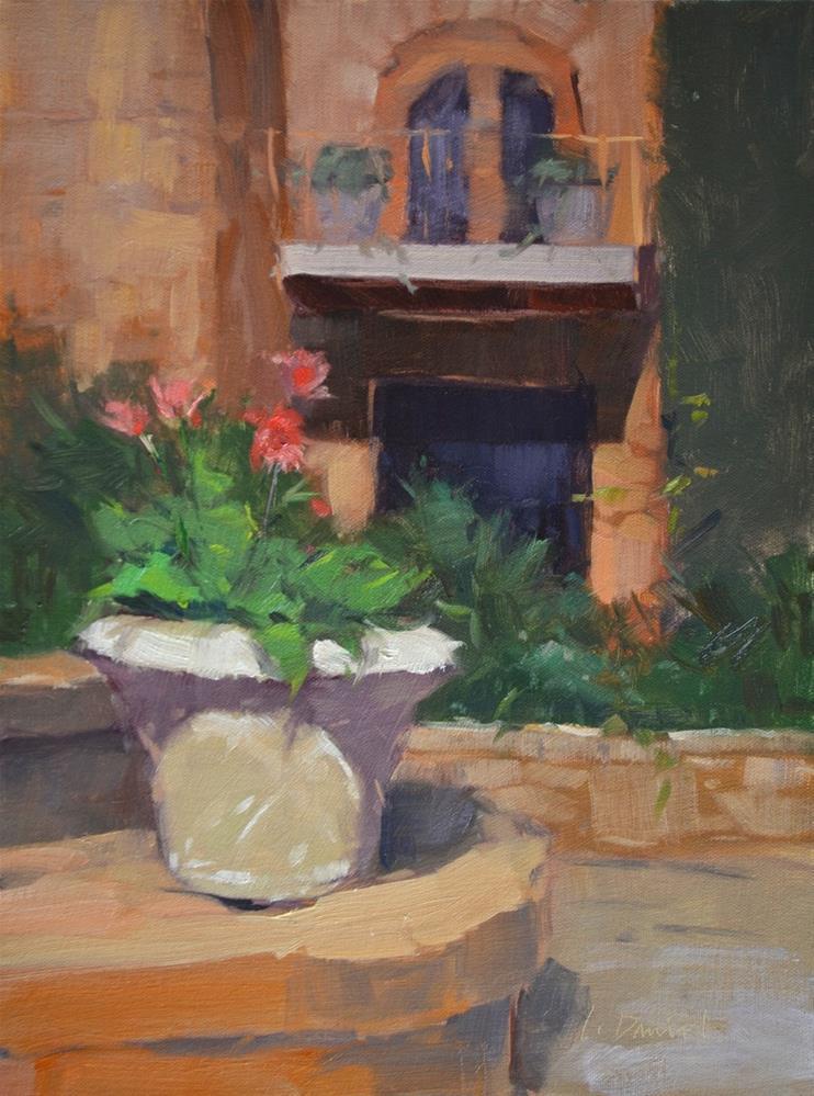 """Daisy Ledge - painting with a master!"" original fine art by Laurel Daniel"