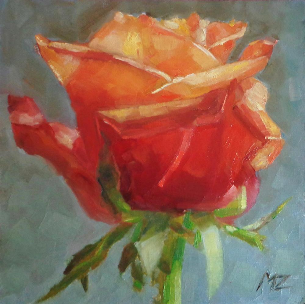 """""""Rose"""" original fine art by Maria Z."""