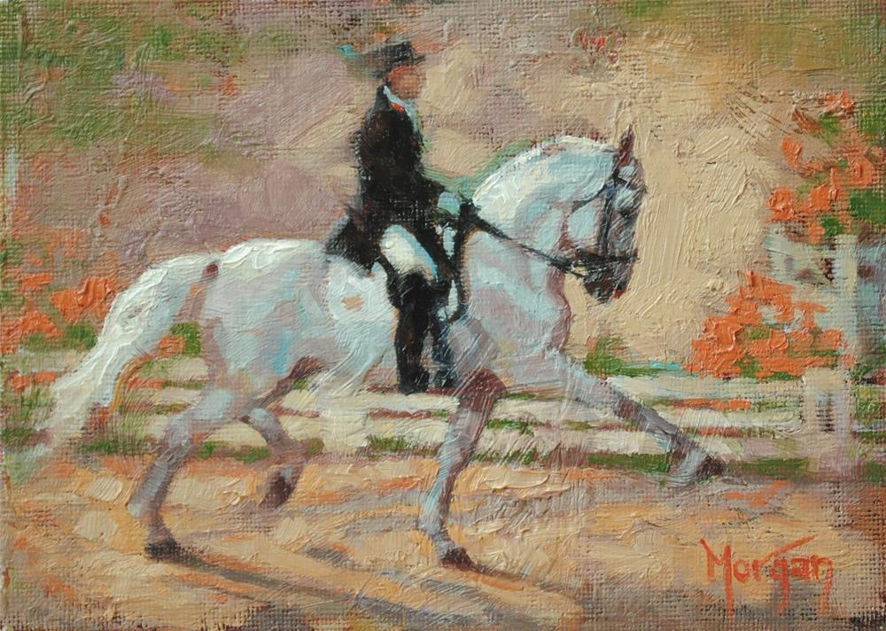 """Dressage #3"" original fine art by Cecile W. Morgan"