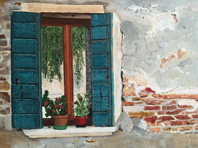 """Shutters"" original fine art by Helen Kuhn"