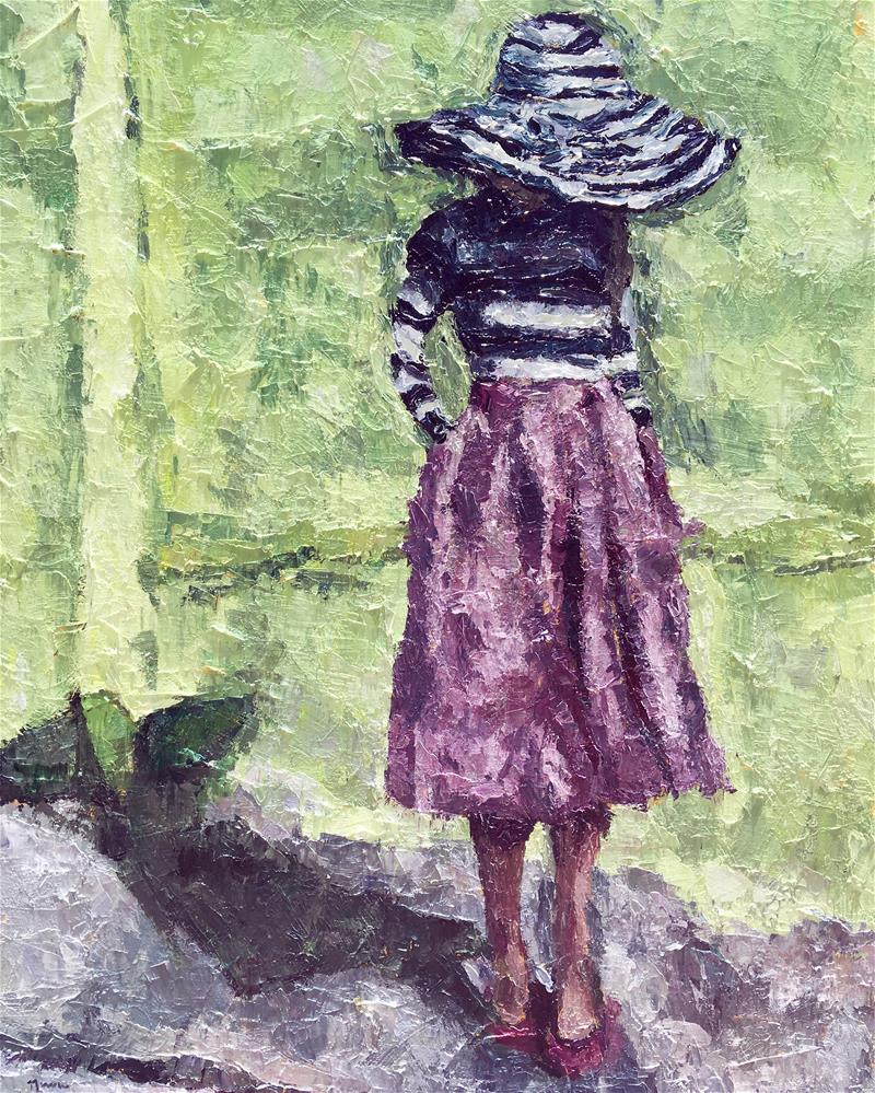 """The Striped Hat"" original fine art by Nava Judith"