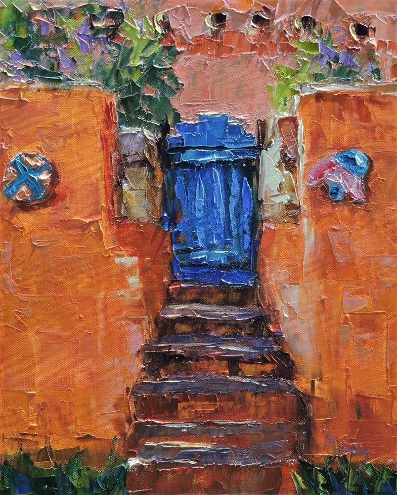 """""""The Blue Door"""" original fine art by Linda mooney"""