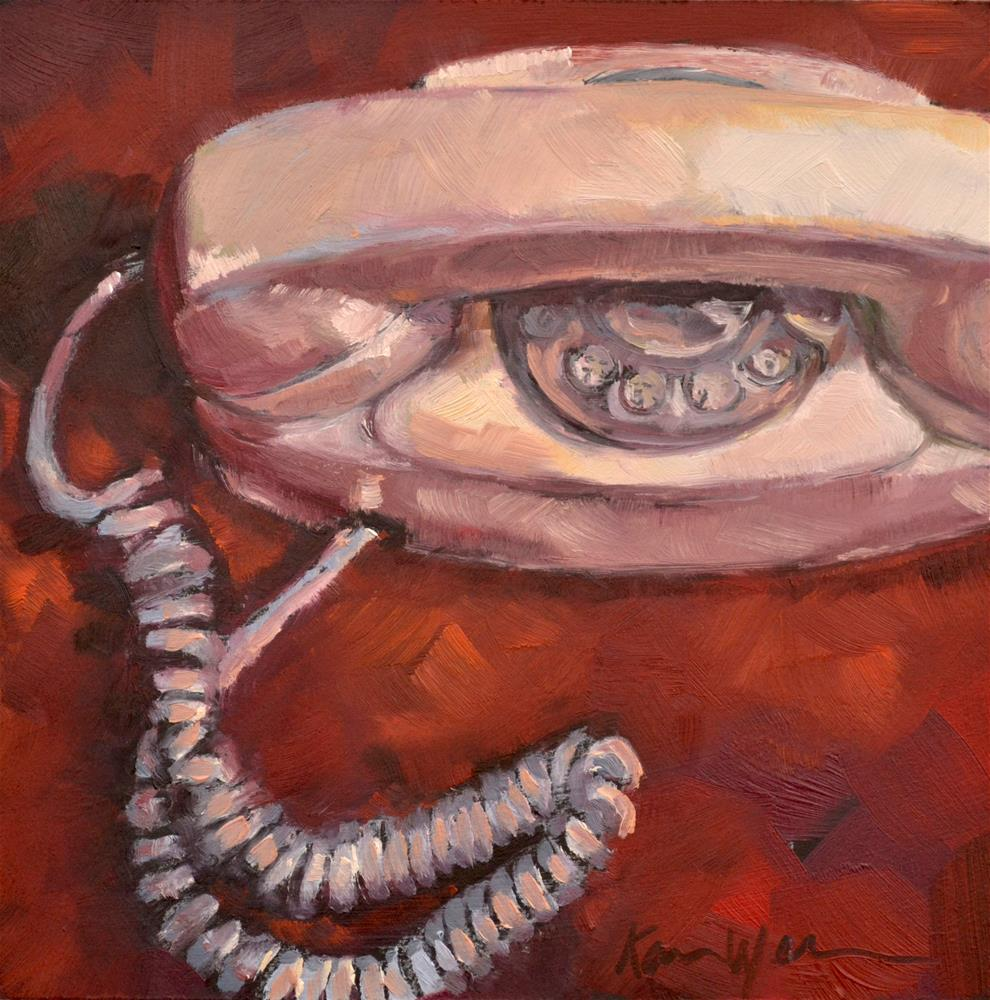 """The Princess Phone"" original fine art by Karen Weber"