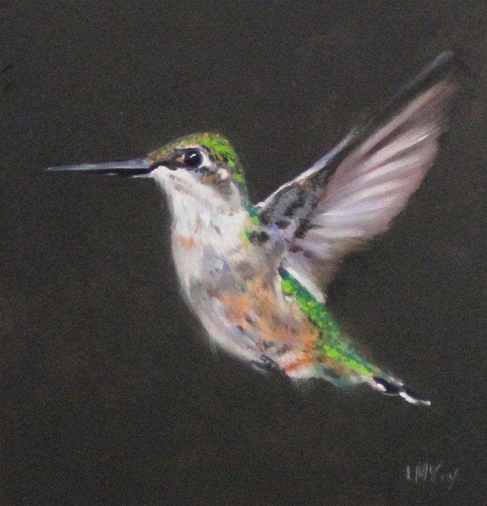 """Homeward Bound, Hummingbird"" original fine art by Linda McCoy"
