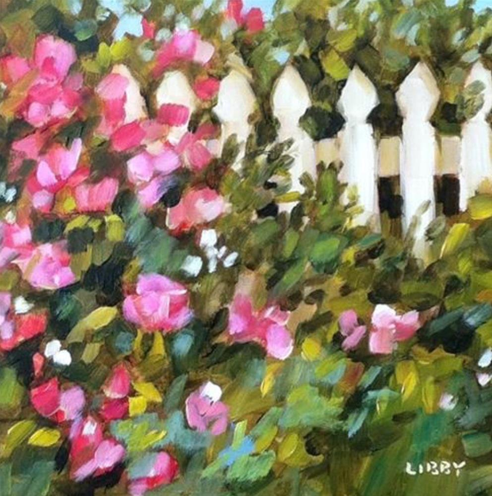 """Roses at the Gate"" original fine art by Libby Anderson"