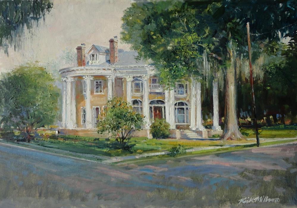 """Lapsley Street Mansion"" original fine art by Kirk Miller"