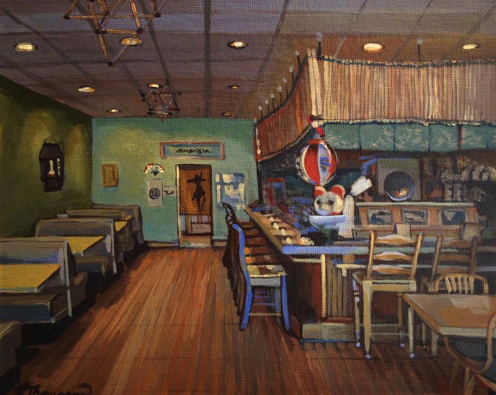 """Genki Sushi"" original fine art by Rachel Thompson"
